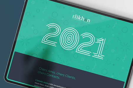 Elikhân — Carte de vœux web